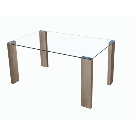 Mesa cristal hana for Mesa cristal barata