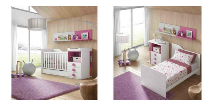 Muebles bebé (cuna convertible) - Tienda de Muebles Baratos Online
