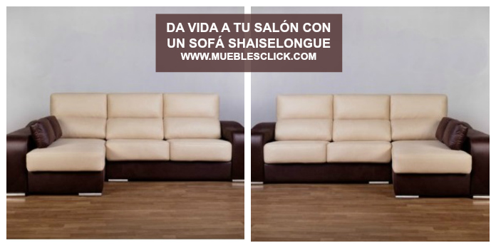 Shaiselongue reversible Cairo con tela antimanchas Acualine