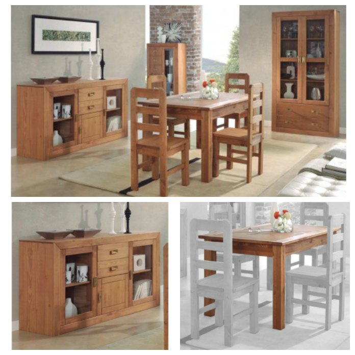 Muebles recibidor madera maciza 20170729015614 - Muebles en madera de pino ...