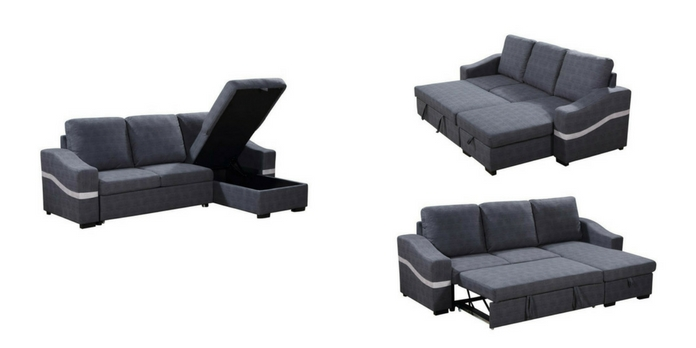 Sof cama chaise longue con arc n barato y env o gratis for Sofa cama chaise longue