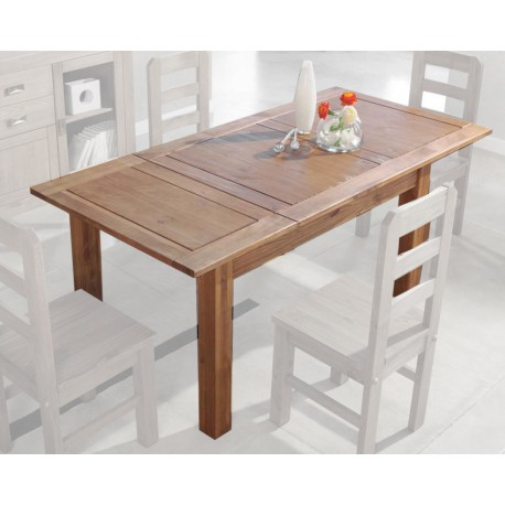 Wellindal Mesa comedor extensible madera tablero dm y chapa roble