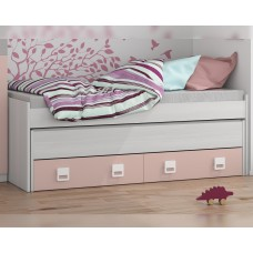 Cama doble con estante Smallow