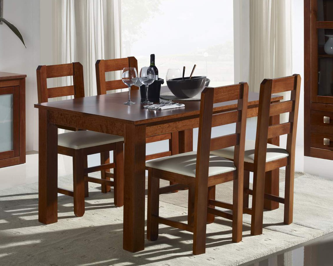 mesa de comedor y silla de manera