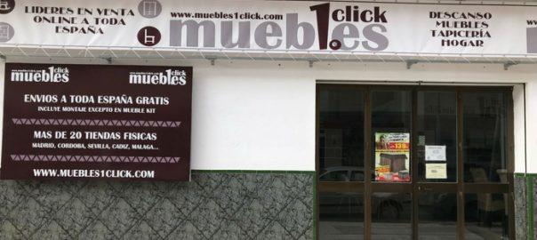 Tienda muebles en el Rincón de la Victoria fachada exterior Muebles1Click